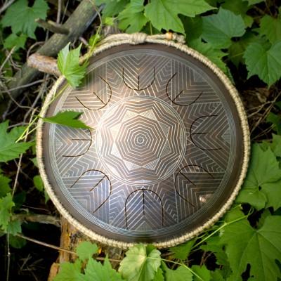 "GUDA drum MINI Overtone ""Indian"" with rope decoration"