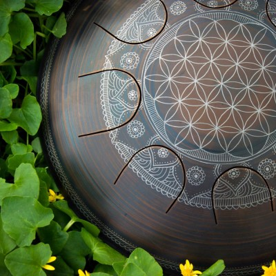 GUDA drum Freezbee « Flower of life » without rope decoration