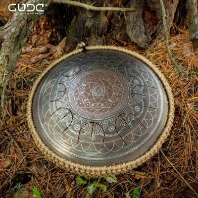 "GUDA drum MINI Overtone ""Dnipro"" with rope decoration"