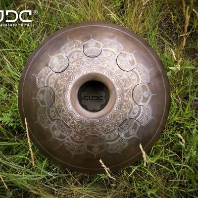 """GUDA drum Standart """"Frozen Flower"""" with rope decoration"""