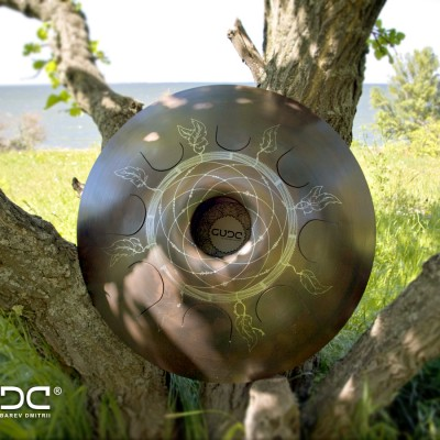 "GUDA drum Standart ""Dream Catcher"" with rope decoration"