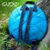 Blue caring Bag-backpack for small GUDA drum