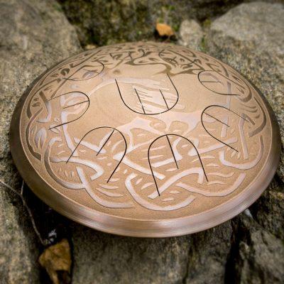"GUDA drum MINI Overtone Plus ""Tree of life"" with rope decoration"