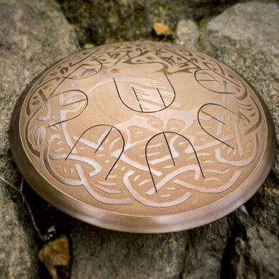 "GUDA drum MINI Overtone Plus ""Tree of life"" with rope decoration"