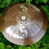"""GUDA drum MINI Overtone Plus """"UFO symbols"""" with rope decoration"""