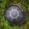 """Black GUDA drum MINI Overtone Plus """"Dream Catcher"""" with black hemp rope decoration"""